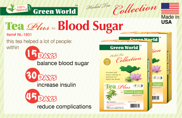 Tea Plus For Blood Sugar Buy 4 Get 1 Free Green Inc Usa